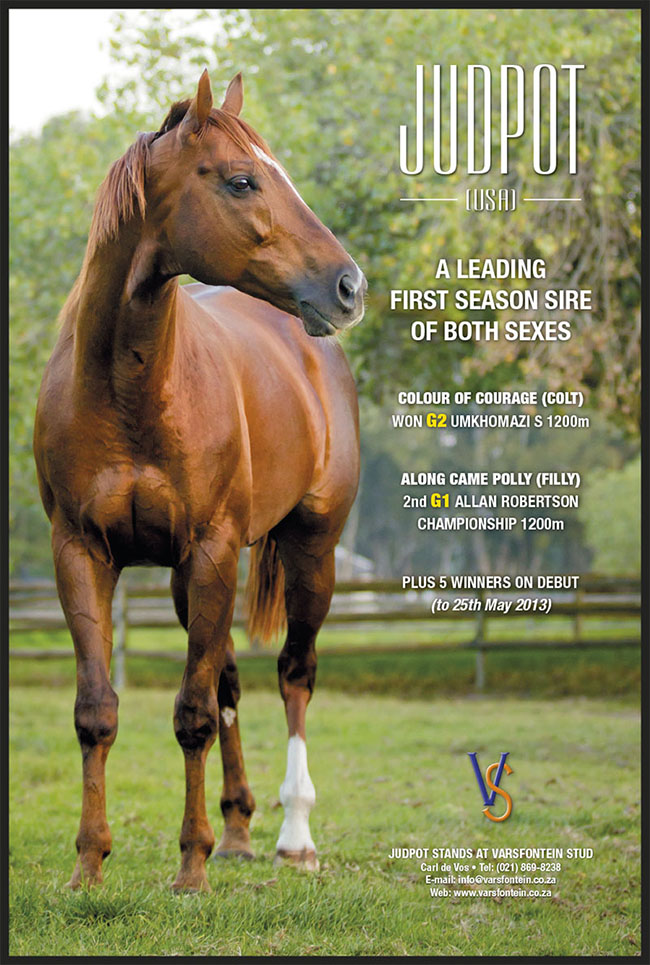 JUDPOT advertisement in Sporting Post - May 2013