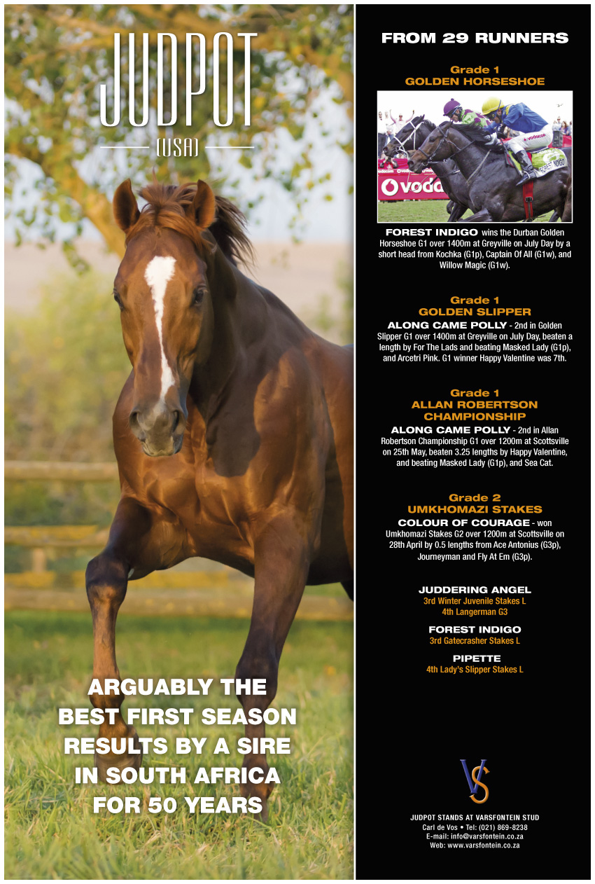 Judpot advert Sporting Post July 2013